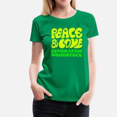 Woodstock Generation Peace  love woodstock generation  - Dame premium T-shirt