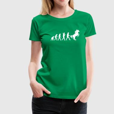 Evolution of Reiten - Frauen Premium T-Shirt