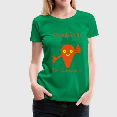 Happy Carrot Thumbs Up - Premium-T-shirt dam