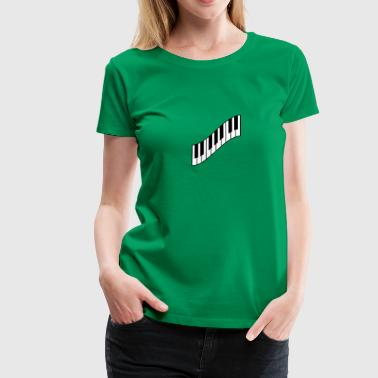 Cool Piano Keys Design - Women's Premium T-Shirt