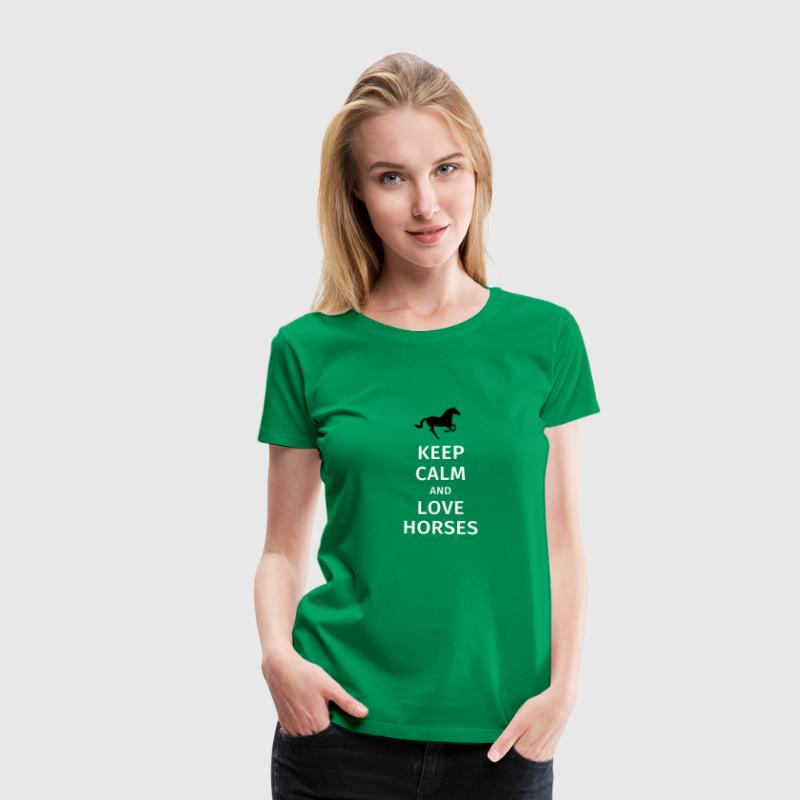 keep calm and love horses - Vrouwen Premium T-shirt
