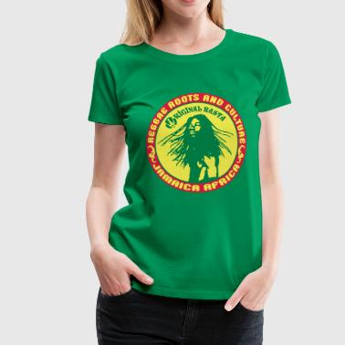 reggae roots and_culture jamaica africa - Women's Premium T-Shirt