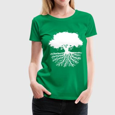 tree roots white - Women's Premium T-Shirt