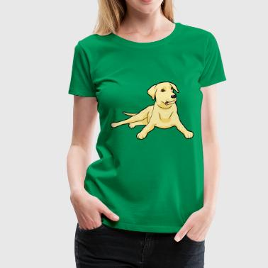 Golden Labrador Dogs & Puppys - Women's Premium T-Shirt