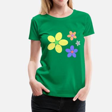 Flower Power 70s Retro Style colorful flowers hippie retro - Women's Premium T-Shirt