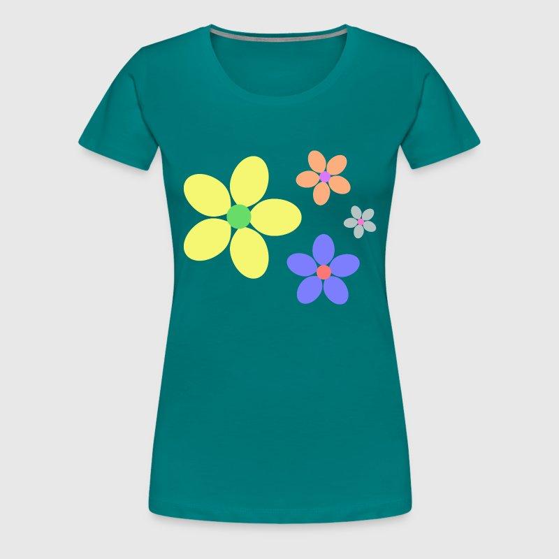 bunte Blumen Hippie retro von Geschenke-sylltra | Spreadshirt