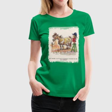 Thelwell - Pony with hairdresser - Premium-T-shirt dam
