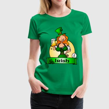 St. Patrick's Day Irish Maiden - Frauen Premium T-Shirt