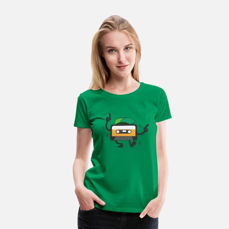 80s T-Shirts - Dancing Cassette Tape (Vintage Style) - Vrouwen premium T-shirt kelly groen