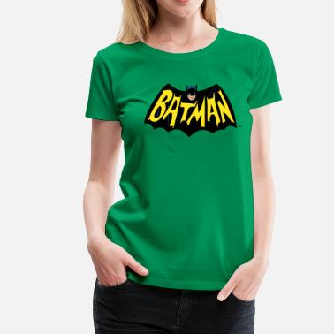 DC Comics Batman Wings Cool Logo Lettering - Premium-T-shirt dam