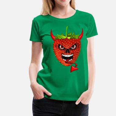Fraise devil strawberry fraise skull - Women's Premium T-Shirt