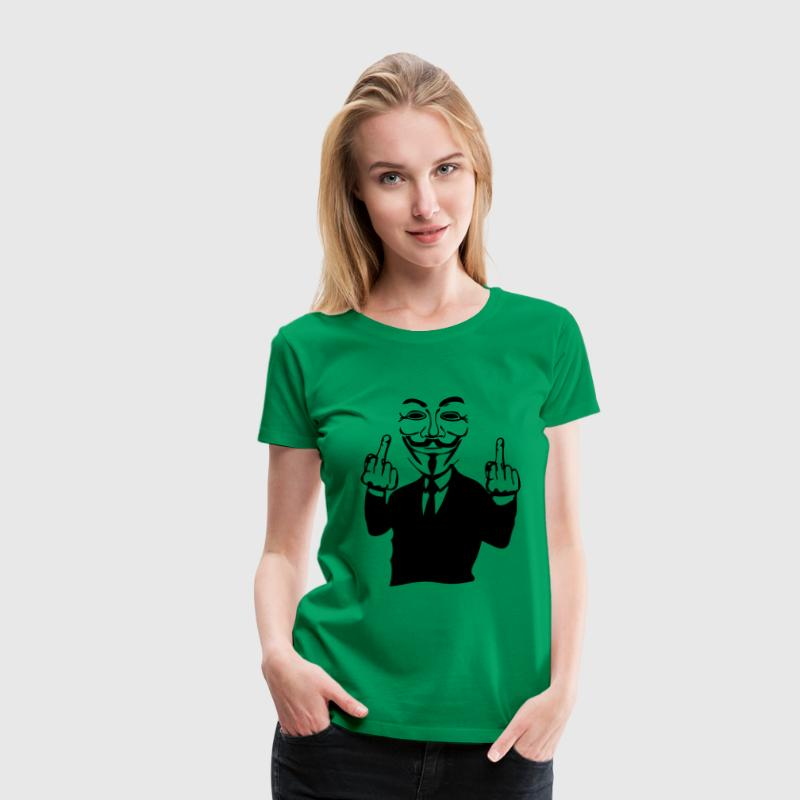 anonymous masque mask fuck8 main hand co - Women's Premium T-Shirt