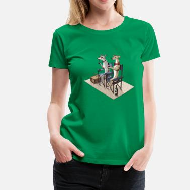 Whippets Whippets - Women's Premium T-Shirt