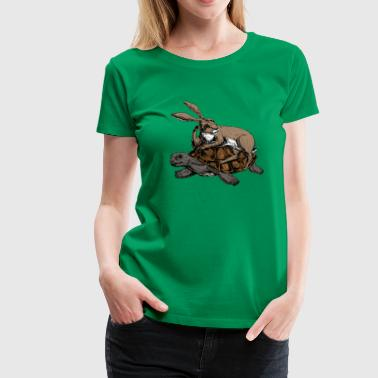 Hare and Tortoise - T-shirt Premium Femme