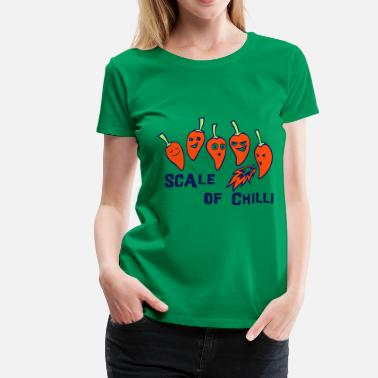 Chilli Jokes scale of chilli - Women's Premium T-Shirt