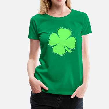 Luck Shamrock Pastel Colors - Good Luck St Patricks - Women's Premium T-Shirt