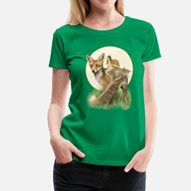 Fairy Tales fox and fairy - Vrouwen Premium T-shirt