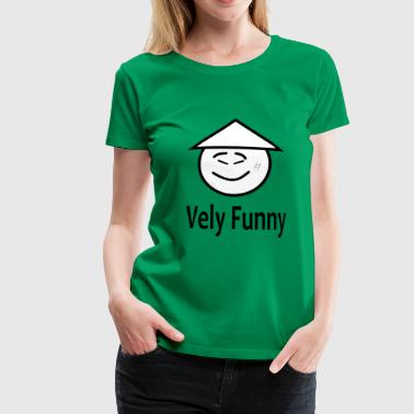 vely funny - Vrouwen Premium T-shirt