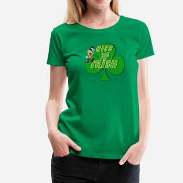 St. Patricks Day Clover - Women's Premium T-Shirt