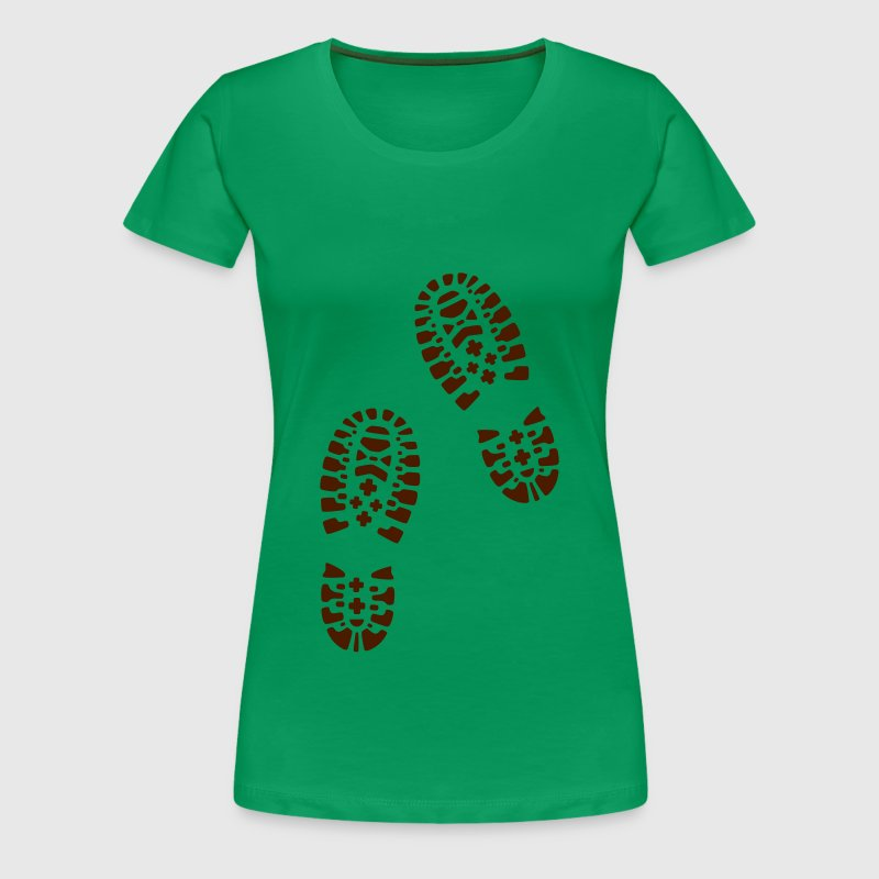 For lovers of hiking: hiking boots, footprints. - Women's Premium T-Shirt