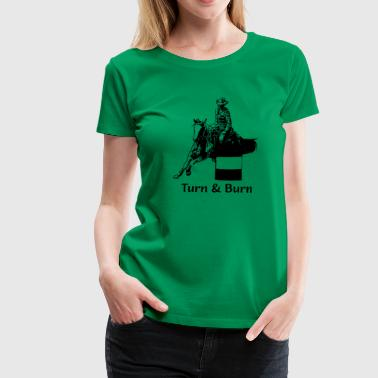 Barrel Race - Women's Premium T-Shirt