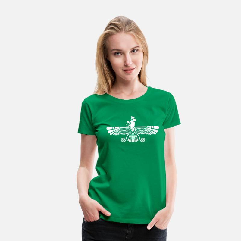 Iran T-Shirts - Farvahar - Women's Premium T-Shirt kelly green
