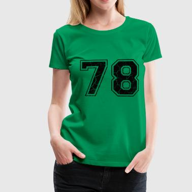 1978 Number 78 in the grunge look - Women's Premium T-Shirt