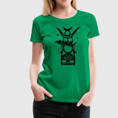 Diana, goddess of the forest, moon goddess - Women's Premium T-Shirt