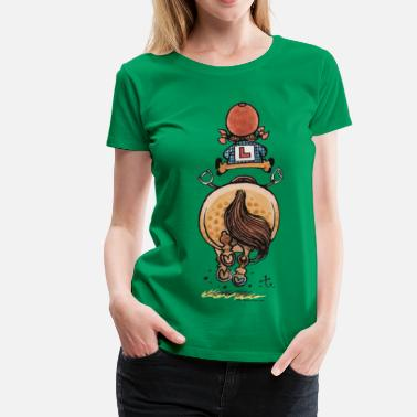 Norman Thelwell Funny Riding Beginner Illustration - Women's Premium T-Shirt