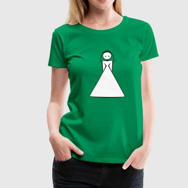 bride / bride to be / wife to be 2c clipart - Dame premium T-shirt