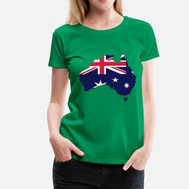 Map Australia - Women's Premium T-Shirt