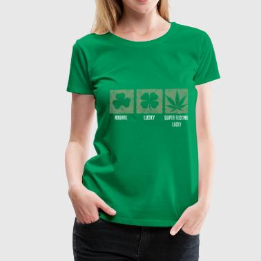 Weed - Super Lucky - Vrouwen Premium T-shirt