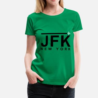 Jfk JFK Black - Women's Premium T-Shirt