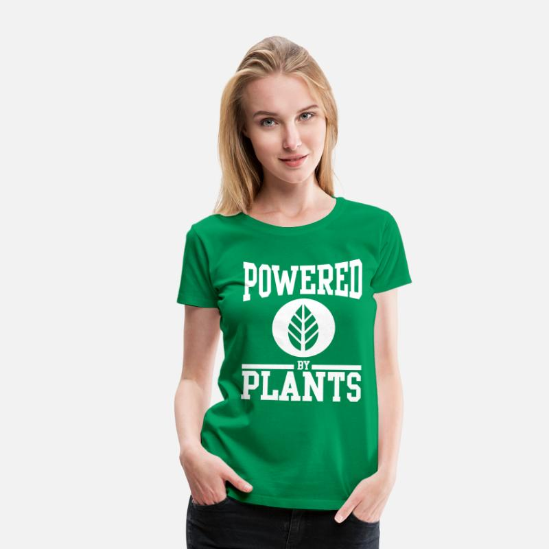 Vegan T-Shirts - Powered by plants - Vrouwen premium T-shirt kelly groen