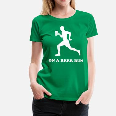 Beer Running On a Beer Run - Women's Premium T-Shirt