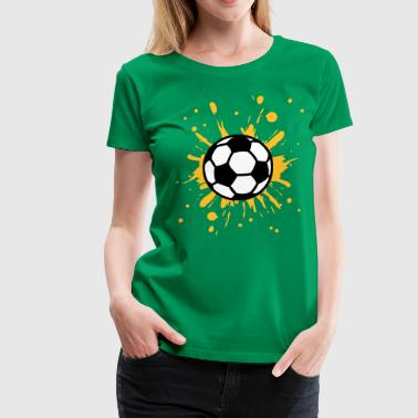 Football, Splash, Soccer, Splatter,  - Women's Premium T-Shirt