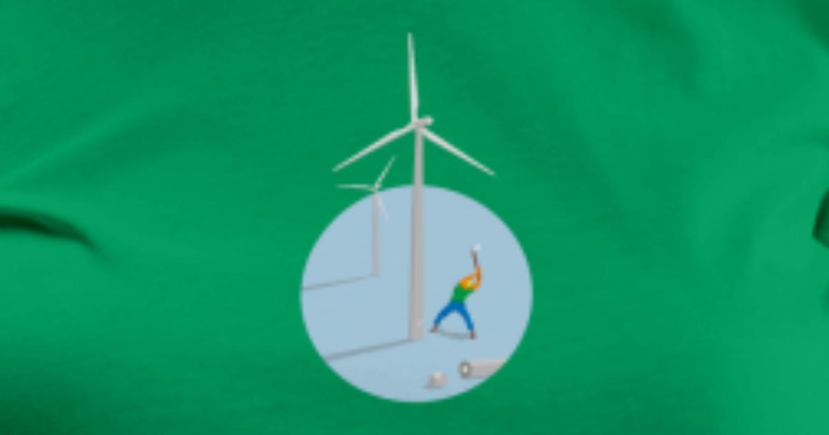 heizen mit windkraft ko strom alternative von chrikle spreadshirt. Black Bedroom Furniture Sets. Home Design Ideas