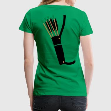 quiver archery arrow equipment by patjila - Women's Premium T-Shirt