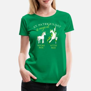 I Love Ireland St. Patricks Day is magical Einhorn Bier Lustig - Dame premium T-shirt