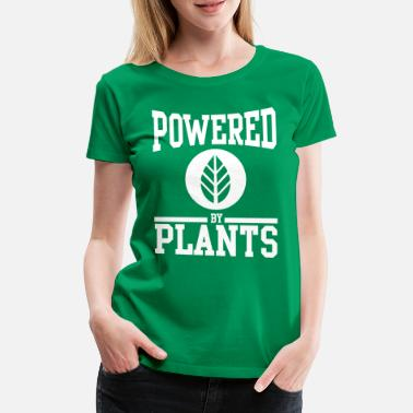 Vegan Powered by plants - Vrouwen premium T-shirt