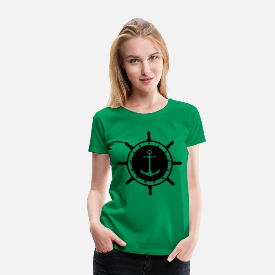 Pirate T-Shirts - helm anchor 1 - Women's Premium T-Shirt kelly green
