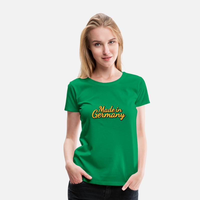 German T-Shirts - Made in Germany | Hergestellt in Deutschland - Women's Premium T-Shirt kelly green