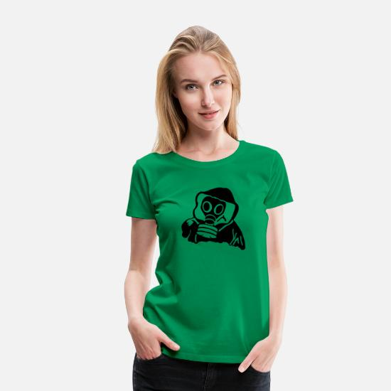 Hardstyle T-Shirts - Gas Mask - Frauen Premium T-Shirt Kelly Green