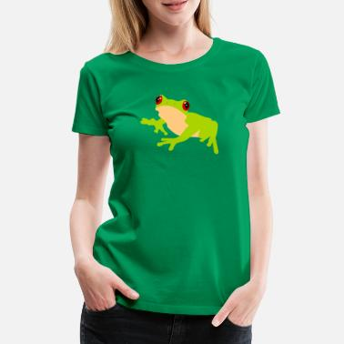 Red Frog Common Frog Tree Frog Nature - Women's Premium T-Shirt