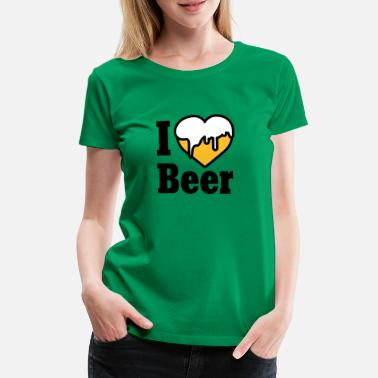 I Love I love Beer - Frauen Premium T-Shirt
