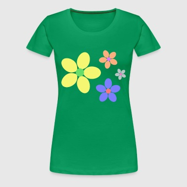 colorful flowers hippie retro - Women's Premium T-Shirt