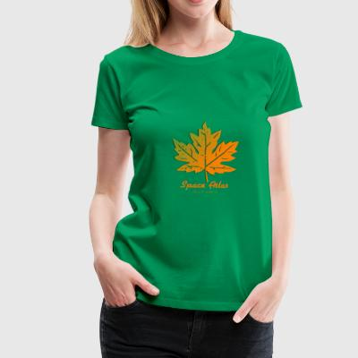 Space Atlas T-shirt Autumn Leaves - Women's Premium T-Shirt