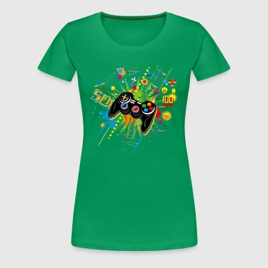 Gamepad Video Games - T-shirt Premium Femme