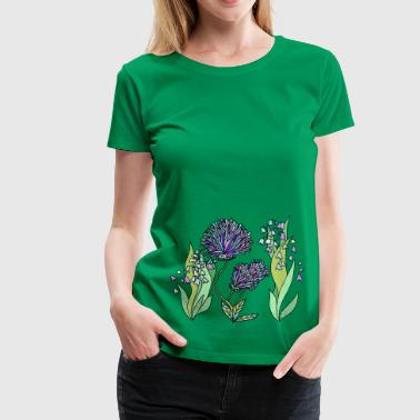 Garden in purple - Women's Premium T-Shirt