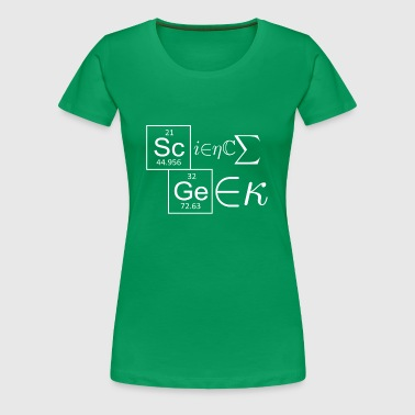 science_geek_wh - Women's Premium T-Shirt